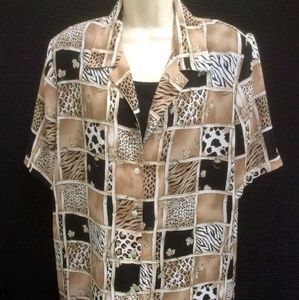 Women's Shirt Top by Allison Daley size Large Laye